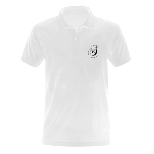 Alphabet S Men's Polo Shirt (Model T24)