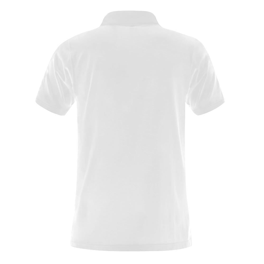 Alphabet A Men's Polo Shirt (Model T24)