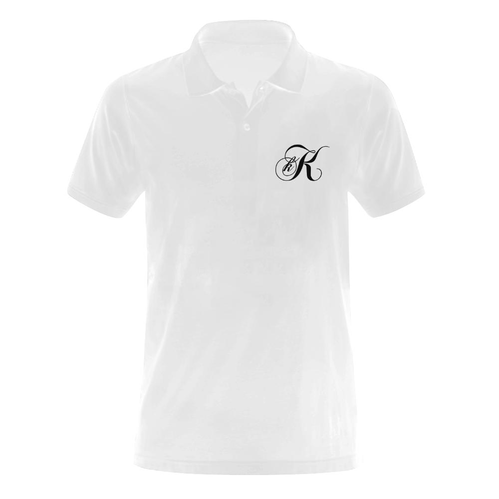 Alphabet K Men's Polo Shirt (Model T24)