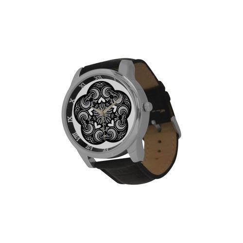 Mandala-2 Men's Leather Strap Large Dial Watch(Model 213)