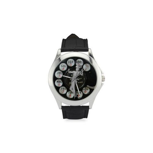 Please Wait for the Dial Tone Women's Classic Leather Strap Watch(Model 203)