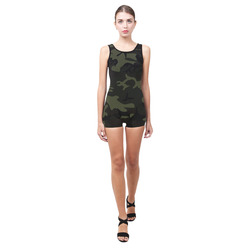 Camo Green Classic One Piece Swimwear (Model S03)