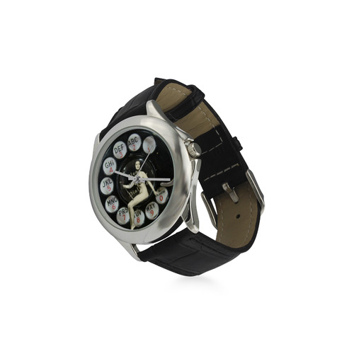 Please Wait for the Dial Tone 2 Women's Classic Leather Strap Watch(Model 203)