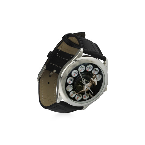 Please Wait for the Dial Tone 3 Women's Classic Leather Strap Watch(Model 203)
