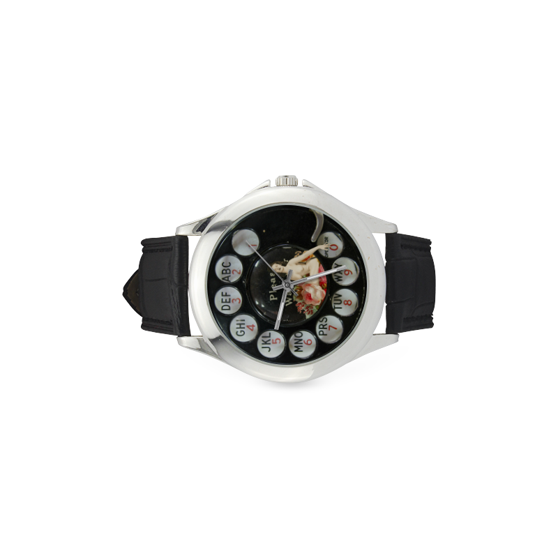Please Wait for the Dial Tone 4 Women's Classic Leather Strap Watch(Model 203)