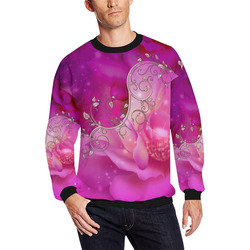 Wonderful floral design All Over Print Crewneck Sweatshirt for Men (Model H18)
