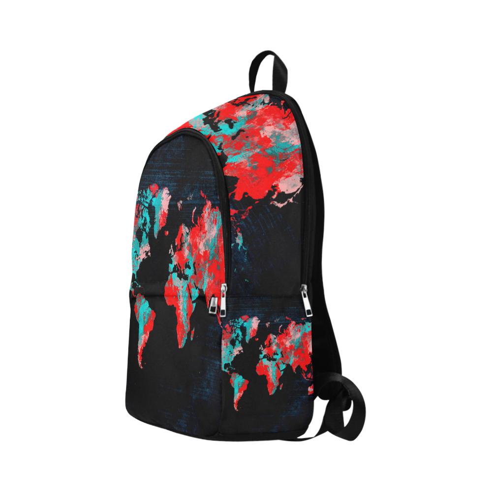 Custom casual backpack world map school bag laptop backpack travel resntentobalflowflowcomponentncel gumiabroncs Images
