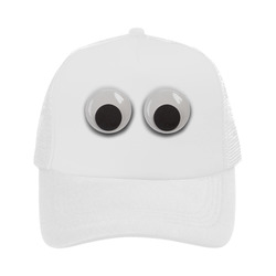 Large Funny Googly Eyes Trucker Hat