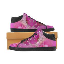 Wonderful floral design Men's Chukka Canvas Shoes (Model 003)