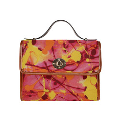 Fire Burst Waterproof Canvas Bag/All Over Print (Model 1641)