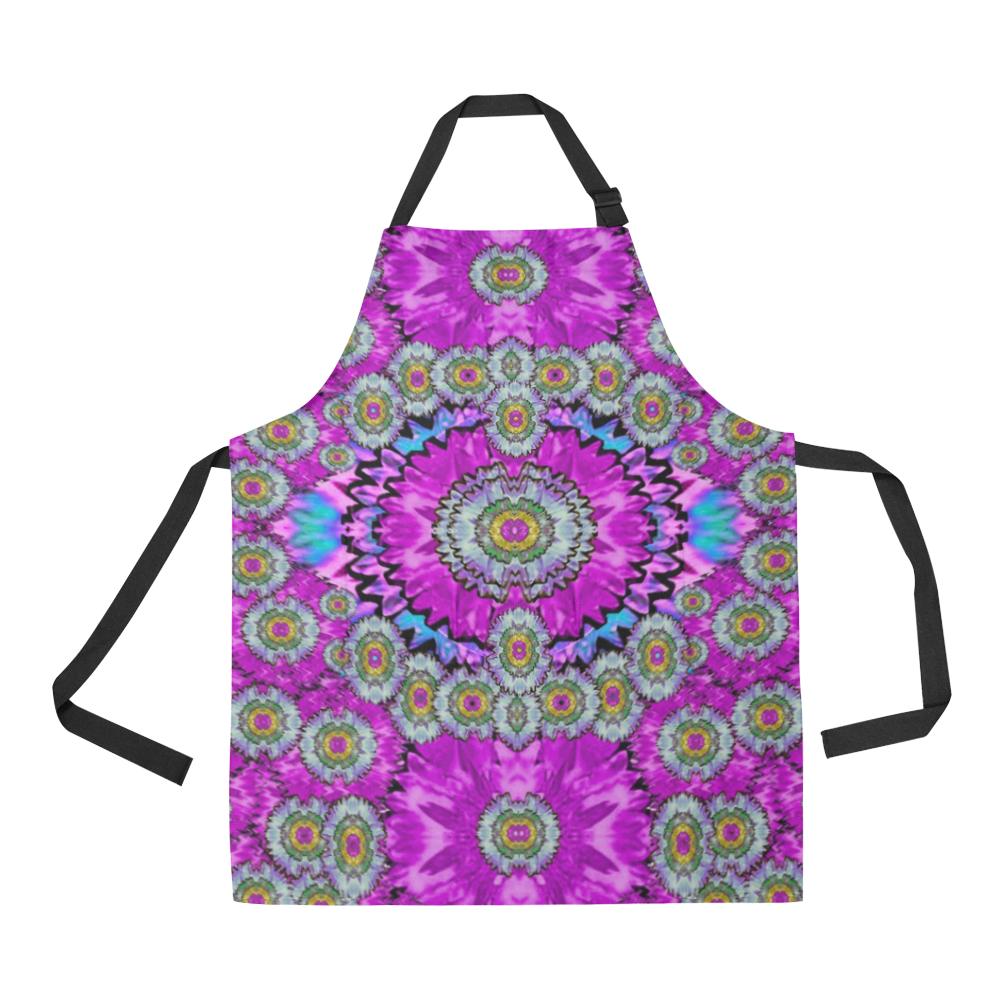 Spring time in colors and decorative fantasy bloom All Over Print Apron
