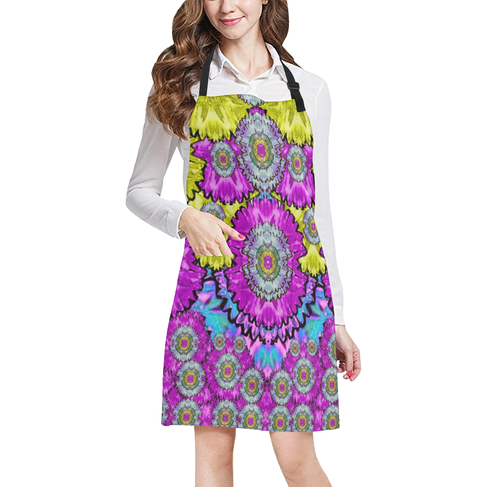 fantasy bloom in Spring time lively colors All Over Print Apron