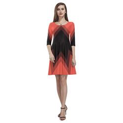 Zig Zag - Skater Dress Tethys Half-Sleeve Skater Dress(Model D20)