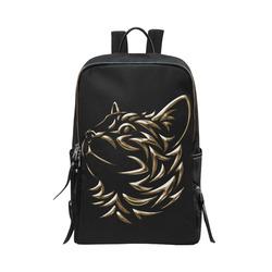The Golden Cat Unisex Slim Backpack (Model 1664)