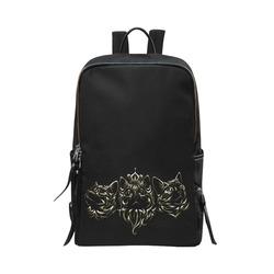 Golden Queen Cats Unisex Slim Backpack (Model 1664)