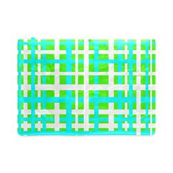 Green & Aqua Interlocking Stripes Custom NoteBook A5