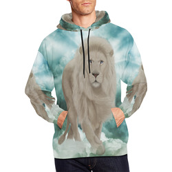 The white lion in the universe All Over Print Hoodie for Men (USA Size) (Model H13)