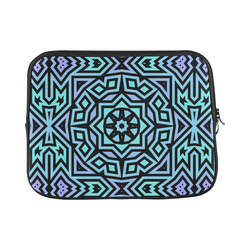 Aqua and Lilac Tribal Laptop Sleeve 11''