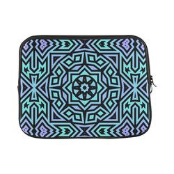 "Aqua and Lilac Tribal Custom Laptop Sleeve 13"""