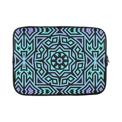 Aqua and Lilac Tribal Custom Sleeve for Laptop 15.6""