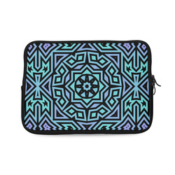 Aqua and Lilac Tribal Laptop Sleeve 10''