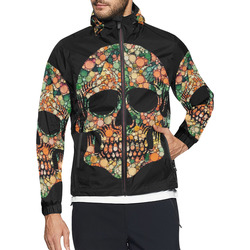 Awesome Bubble Skull D by JamColors Unisex All Over Print Windbreaker (Model H23)