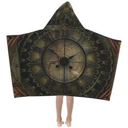 Steampunk, clockswork Kids' Hooded Bath Towels