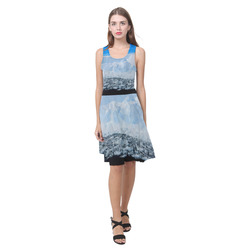 Iceberg Antarctica Low Poly Nature Landscape Atalanta Casual Sundress(Model D04)
