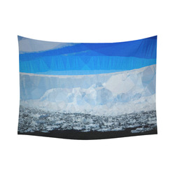 """Iceberg Antarctica Low Poly Nature Landscape Cotton Linen Wall Tapestry 80""""x 60"""""""