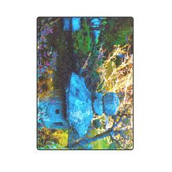"Japanese Painted Garden Blanket 58""x80"""
