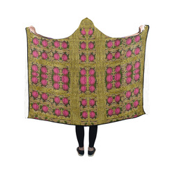 Bloom in gold shine and you shall be strong Hooded Blanket 50''x40''