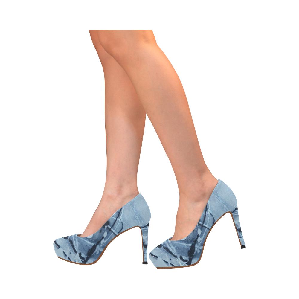 Cosmic Skydiving Women's High Heels (Model 044)