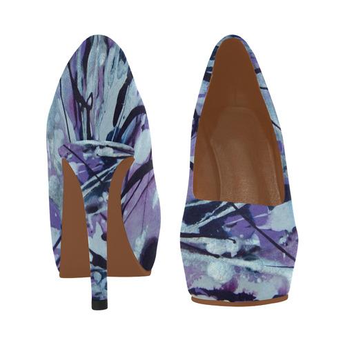 Whimsical Skyscape Women's High Heels (Model 044)