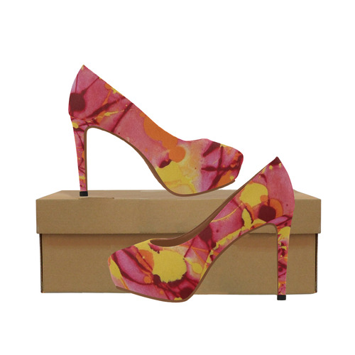 Fire Burst Women's High Heels (Model 044)