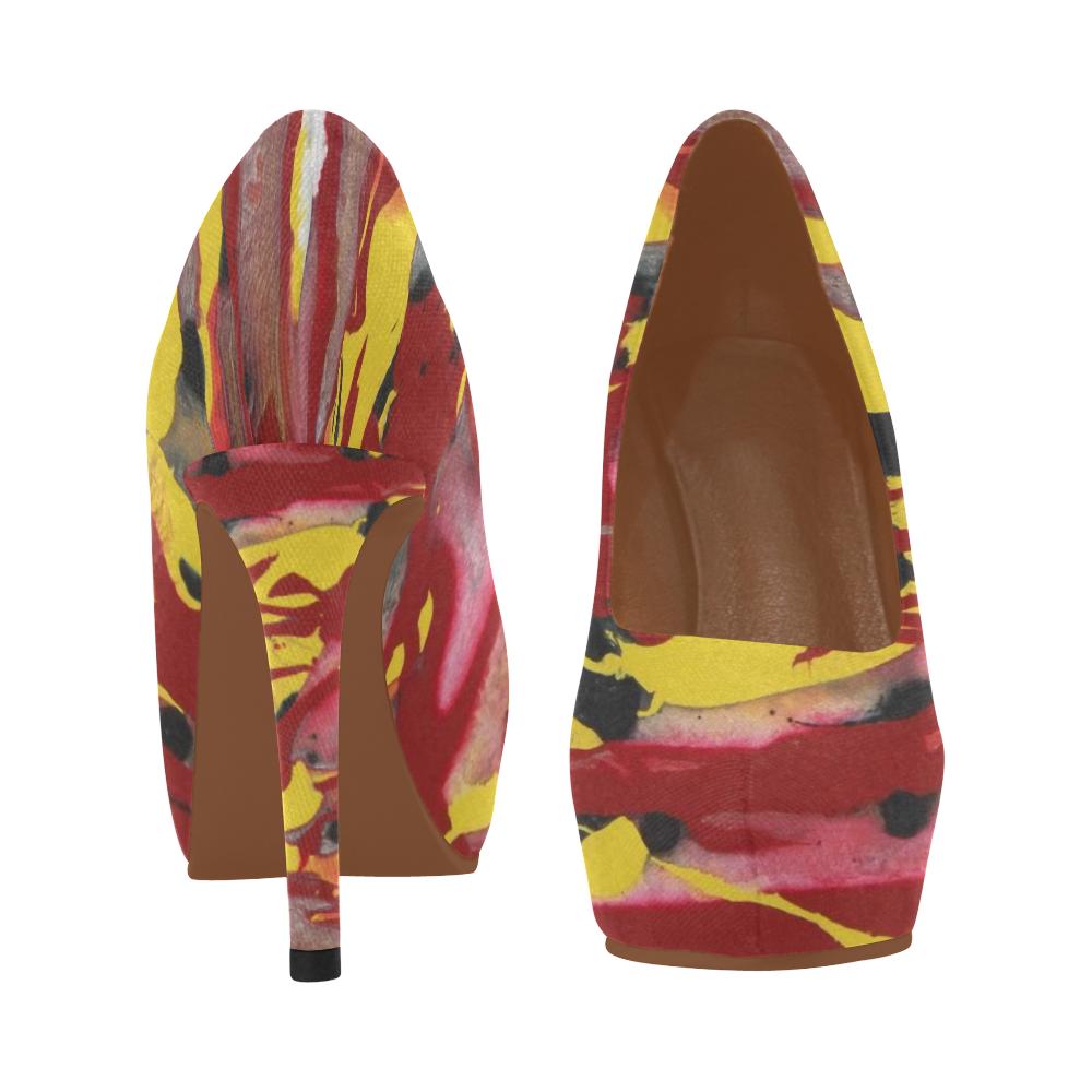Swirling Fire Women's High Heels (Model 044)