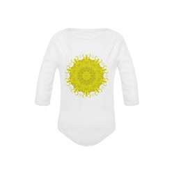 Jade Mandala Baby Powder Organic Long Sleeve One Piece (Model T27)