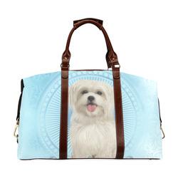 Cute havanese puppy Classic Travel Bag (Model 1643) Remake