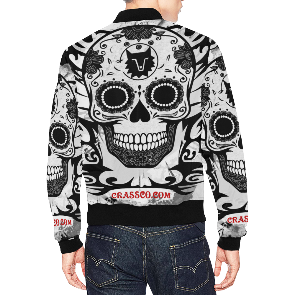 SKULL CULT All Over Print Bomber Jacket for Men (Model H19)