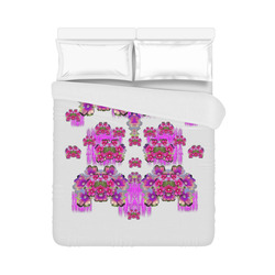 "Happy Merry fantasy flowers Duvet Cover 86""x70"" ( All-over-print)"