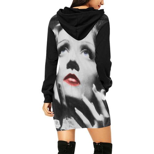 MARLENE All Over Print Hoodie Mini Dress (Model H27)