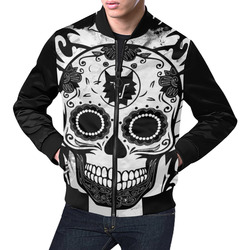 SKULL CULT II All Over Print Bomber Jacket for Men (Model H19)