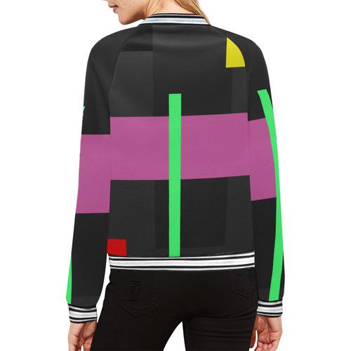 OUTSIDER All Over Print Bomber Jacket for Women (Model H21)