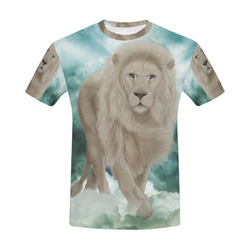 The white lion in the universe All Over Print T-Shirt for Men (USA Size) (Model T40)