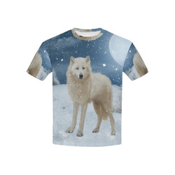 Awesome arctic wolf Kids' All Over Print T-shirt (USA Size) (Model T40)