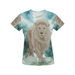 The white lion in the universe All Over Print T-Shirt for Women (USA Size) (Model T40)