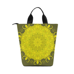 Jade Mandala Nylon Lunch Tote Bag (Model 1670)