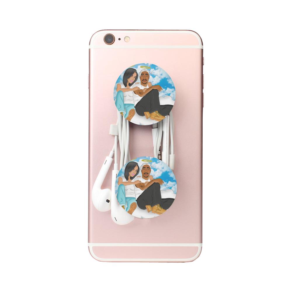 aaliyah and 2pac pop socket Air Smart Phone Holder