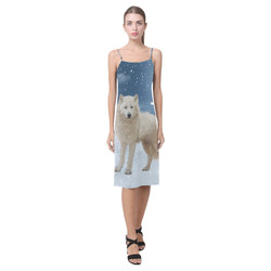 Awesome arctic wolf Alcestis Slip Dress (Model D05)