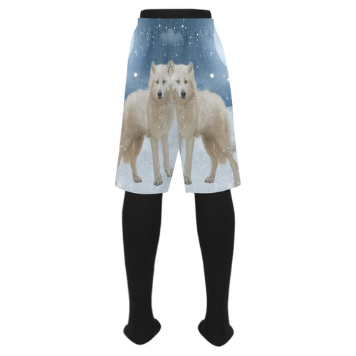 Awesome arctic wolf Men's Swim Trunk (Model L21)