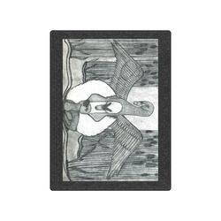 """Swan Family Blanket 50""""x60"""""""